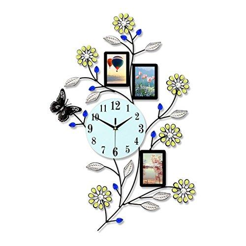 Jack Mall Européenne Horloge Murale Salon Cadre Photo Horloge Simple Grande Décoration Mute Quartz Horloge