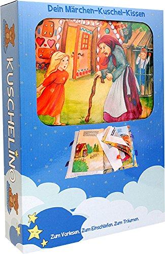 Unbekannt Kuschelino Märchen-Buch-Kissen für Jungs und Mädchen, Farbe:blau