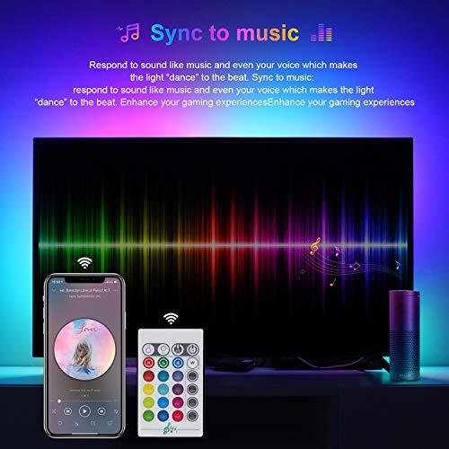 10M Luces de Tiras LED WiFi, TASMOR Tira de LED RGB Compatible con Alexa, Google Home, App, LED Tira Luz Sincronización de Música, Tira LED Autoadhesiva 3M para Decoración Interior y Exterior
