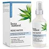 InstaNatural Rose Water Facial Toner for Face, Hair, Body - Natural Anti Aging Mist - Eau Fraiche -...