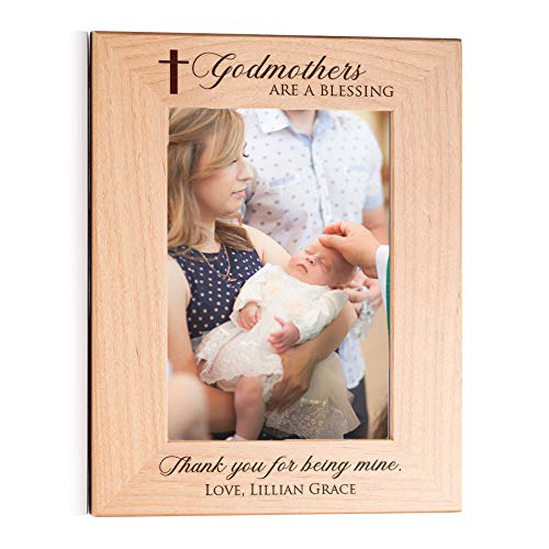 Lifetime Creations Personalized Godmother Picture Frame: Personalized Godmother Gift, Engraved Godmother Frame, Holds 5