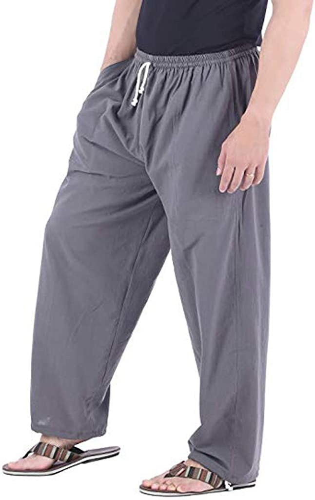 Forthery-Men Pants for Men Big and Tall, Casual Skinny Jogging Harem Pants