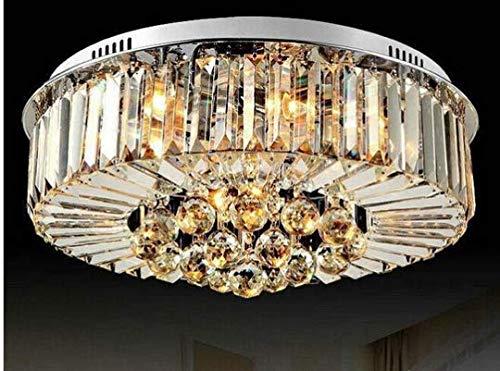Gowe rund Design LED Deckenleuchte E14Kristall-Deckenleuchte lustres de cristal abajur lamparas de Techo für Schlafzimmer Wohnzimmer Body Farbe: Dia 800* 380mm; Wattage: 41–50W