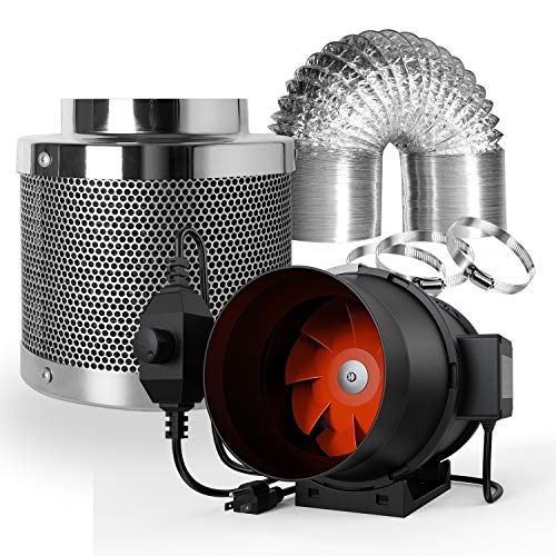 Spider Farmer Ventilation Kit 6 Inch 395 CFM Inline Duct Fan with Speed...