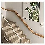 Pasamanos MAZHONG Madera para Escaleras Simplicidad Moderna Barandilla De Seguridad Interior para Lofts, Escuelas, Edificios De Oficinas, Pasillos Antideslizante(Size:80cm)