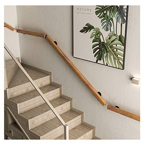 Pasamanos MAZHONG Madera para Escaleras Simplicidad Moderna Barandilla De Seguridad Interior para Lofts, Escuelas, Edificios De Oficinas, Pasillos Antideslizante(Size:100cm)