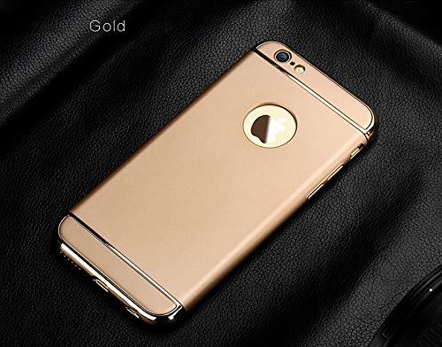 XMCJ Funda protectora de lujo para iPhone 11 Pro X 10 XR Xs Max Cover Bumper en el iPhone 11 X 5 5S SE 6 6S 7 8 Plus Carcasa (color: oro, material: para iPhone 11)