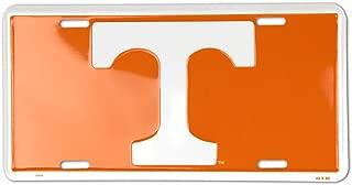 BACON Tennessee Volunteers Metal License Plate - Orange