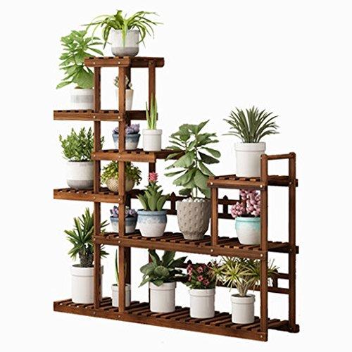 Yxsd Plancher de Support à Fleurs en Bois de Grande capacité, étagère de Rangement pour bac à Plantes, Salon, 7 Niveaux, Balcon