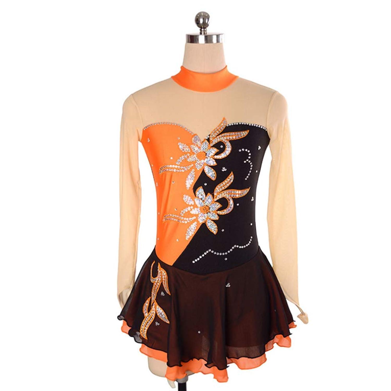 カスタマイズされた子供の大人のフィギュアスケートの服装の性能の衣服の競争の等級のスカート,17,AdultsSize:XL