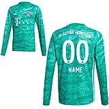 adidas FCB FC Bayern München Torwartshirt Heim Torwarttrikot 2019 2020 Herren Wunschname 00 Gr S