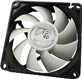 Arctic F8TC Computer PC CPU Cooling Case Fan–Fan Refoidisseurs and Radiator PC Case Fan, 8cm, Black, Silver, 92g; 82x 82x 25mm