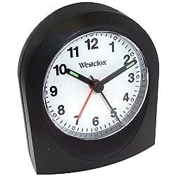 Westclox 47312A Bedside Analog Alarm Clock (Black)