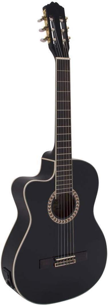 Set de 2 x Guitarra de concierto WILLIAM para zurdos con fonocaptor, negro - Pack de guitarras de concierto / Juego de guitarras clásicas - showking