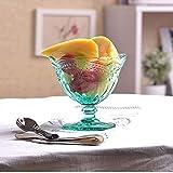 Tazón de amor Cuenco de vidrio de color Copa de helado pequeño Copa de postre Copa de avena