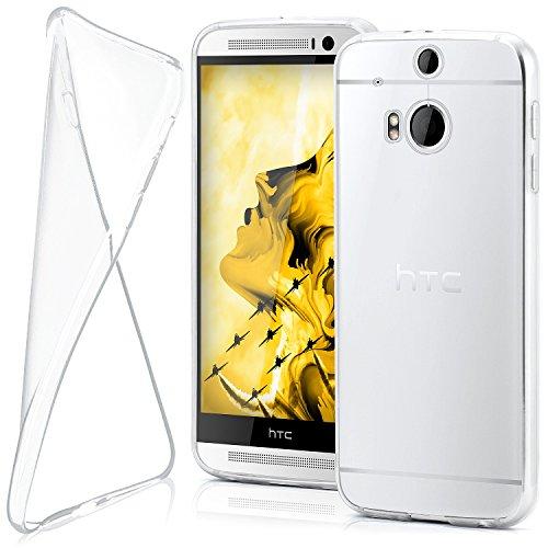 MoEx Funda [Transparente] Compatible con HTC One M8   Ultrafina y Antideslizante...