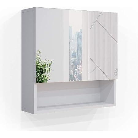 Ikea Lillangen Mirror Cabinet With 2 Doors In White 60 X 21 X 64 Cm Amazon De Home Kitchen