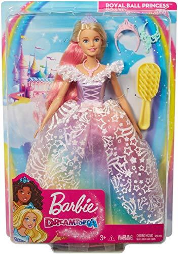 Barbie Dreamtopia Principessa Gran Galà, Bambola con Accessori, Giocattolo per Bambini 3+ Anni, GFR45