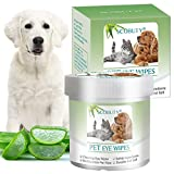 SEGMINISMART Pet Eye Wipes,Pet Tear Wipes,Pet Wipes,Eye Crust...