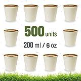 Soul Forest - Vasos Reciclables de Cartón 200 ml - Pack de Vasos Desechables Biodegradables para Café con Leche, Café Cortado y Agua - 500...