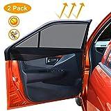 Sombrilla para ventana de coche, Tospanic (M) Sombrilla de coche Bloqueador protector de malla transpirable Ventanas traseras Protección UV máxima para bebés, niños, niños y perros