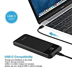 Charmast 10400mAh Power Bank USB C Quick Charge 3.0 PD 18W Power Delivery Battery Pack with LED Display Portable Charger…