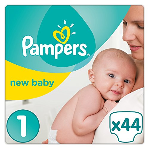 Pampers Premium Protection New Baby Größe 1, 44 Windeln, 2-5 kg