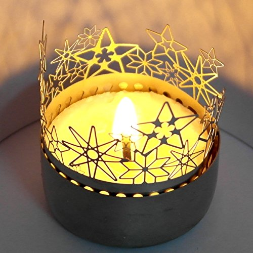 13gramm Sterne Schattenspiel, liebevoll gestaltet Super Minigeschenk und Mitbringsel, für Teelicht, unbegrenzt wiederverndbar,günstiger Postversand, Adventskalenderfüllung,Wichtelgeschenk,Grußkarte