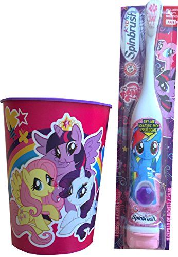 My Little Pony Children's Oral Hygiene Set Includes My Little Pony Rinsing Cup with My Little Pony Powered Toothbrush