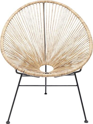 Kare 82903 Stuhl Spaghetti, Moderner Lounge Sessel im Retro-Design für Den Innen- und Outdoorbereich, Nature-Beige (H/B/T) 88x73x79,5cm