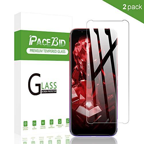 PaceBid 2 Stück Panzerglas Schutzfolie Kompatibel mit ZTE Nubia Red Magic 3S, Tempered Glass [9H Härte][Anti-Fingerabdruck][Ultra-klar] Panzerglasfolie Bildschirmschutzfolie Für ZTE Nubia Red Magic 3S