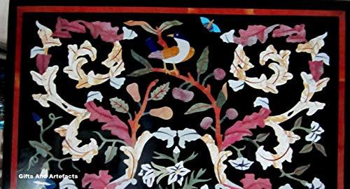Gifts And Artefakte Tischeinlage, Marmor, 61 x 91,4 cm, für Büro und Meeting, mit Blättermuster, Marmor-Konferenztisch, Flur, Esstisch
