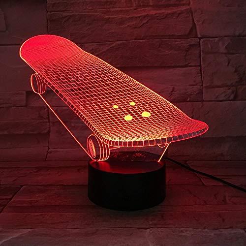 3D Illusion Lampe Led Nachtlicht Bestseller The Skateboard Sliding Plate Batteriebetrieben Awesome Present For Teenager Decor Kinderschlaflampe Zur Raumdekoration
