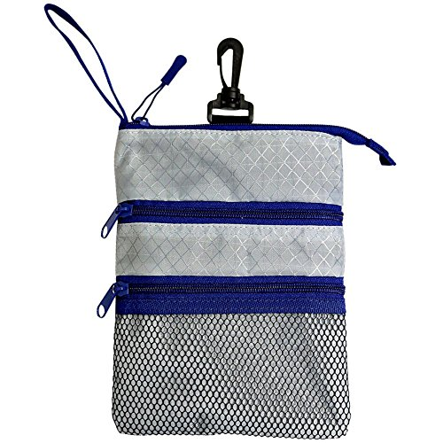 ProActive Sports Unisex Zippered Valuables Pouch, Grey/Navy