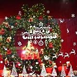 ZRSCL Neujahr Weihnachtsdekoration Abnehmbare Fensterglas Spiegel Aufkleber Weiße Schneeflocken für Kinderzimmer Dekor Schaufenster Posters60CMX90CM