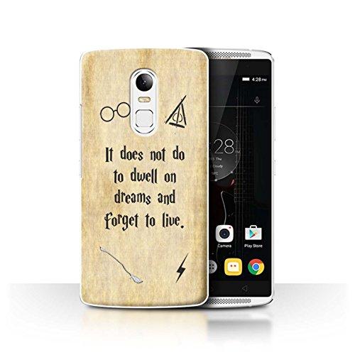 Hülle Für Lenovo Vibe X3 Schule der Magie Film Zitate Dwell On Dreams Design Transparent Ultra Dünn Klar Hart Schutz Handyhülle Hülle