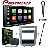 Pioneer MVH-1400NEX 6.2' Digital Media Receiver iDatalink KIT-MUS1 factory integration adapter for select Ford Mustang, ADS-MRR Interface Module and BAA21 Antenna Adapter and a SOTS Lanyard