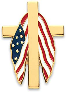 AmeriMark Patriotic Cross Tack Pin One Color One Size