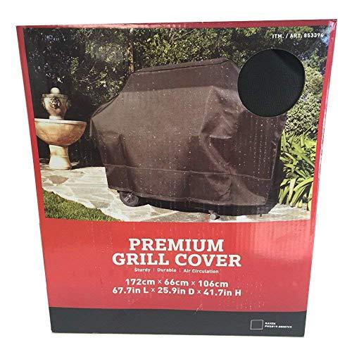 Premium #1 Housse de protection réversible pour barbecue Noir/gris Taille XL Très résistante, robuste, imperméable et protection UV