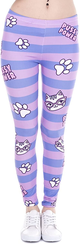 POAONOSS Yoga Pants Women Leggings Unicorn and Sweets Printing Leggins Fitness Legging High Waist Woman Pants