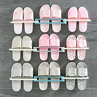 Lsarimo Multicolor Plastic Double Layer Shoe Storage Stand Standing Wall And Door Mounted Shoes Stand Rack Holder Stacker ...