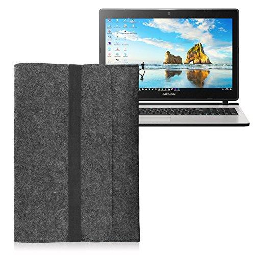 Medion Erazer P7648 Tasche Sleeve Hülle Notebook Laptop Schutzhülle dunkelgrau