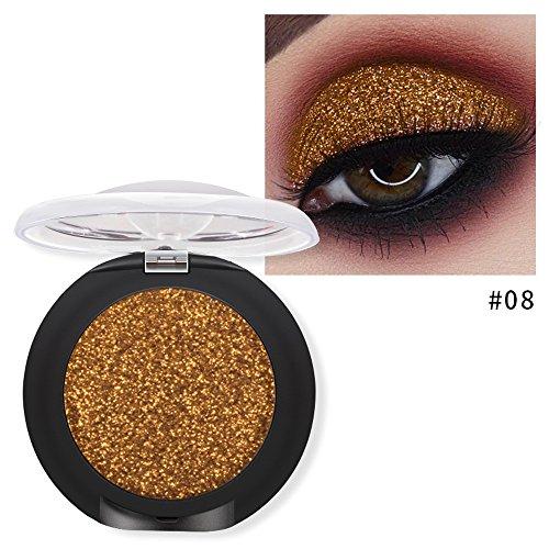Momoxi Lidschatten,Augen Make-up Augenbrauenstift 20 Farben Lidschatten Diamant Makeup Perle Metallic Lidschatten-Palette Makeup Avai