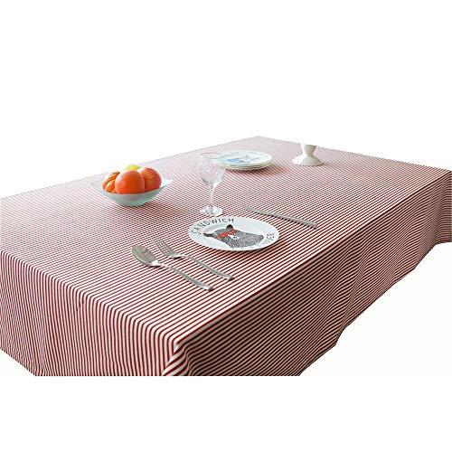 MJK Inicio Manteles, casa minimalista raya literaria algodón de lino cuadrado redondo Mantel Mesa Mantel escritorio de la computadora de la cubierta de toallas Mantel,rojo,Camino de mesa 30 × 180