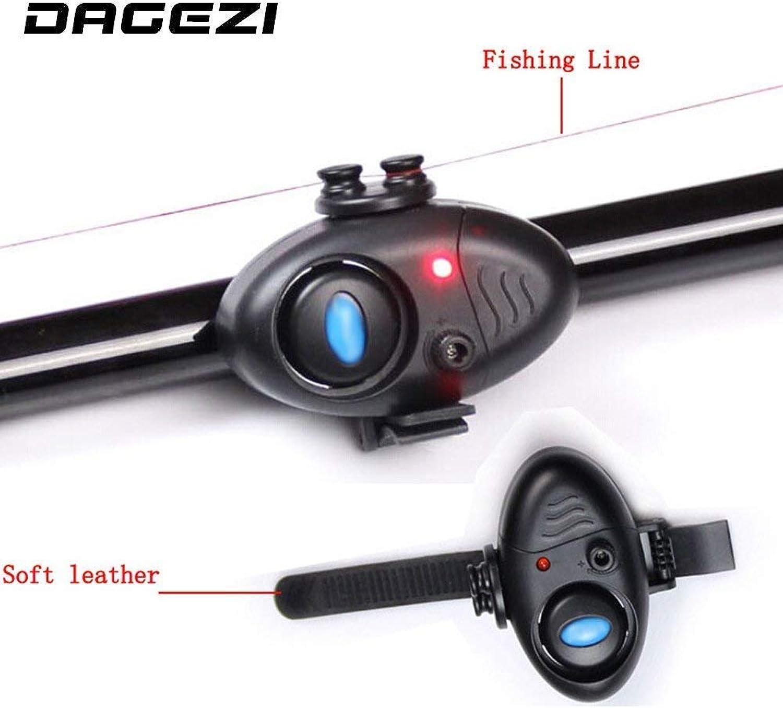 Electronic Fish Sound Bite Finder Alarm LED Light Alert Bell Clip On Fishing Rod Fish Finder 24 Fishing LED Light