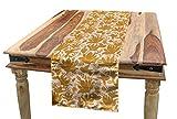 ABAKUHAUS Magnolia Chemin de Table, Pochoir Motif imprimé, Rectangulaire...