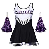 Angel ZYJ Femme Costume de Cheerleader High School Uniforme de Pom-Pom Girl Musical...