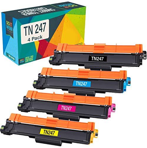 Cartuccia toner TN247 TN243 Do it wiser compatibile in sostituzione di Brother HL-L3210CW DCP-L3550CDW MFC-L3750CDW MFC-L3770CDW MFC-L3730CDW HL-L3230CDW HL-L3270CDW DCP-L3510CDW (Confezione da 4)