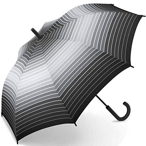 Esprit Stockschirm Long AC Gradient Stripes - Black