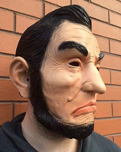 Abraham Lincoln Masque Latex ABE Ex President Déguisement Halloween American Patriot USA Mascotte par Coopers TM